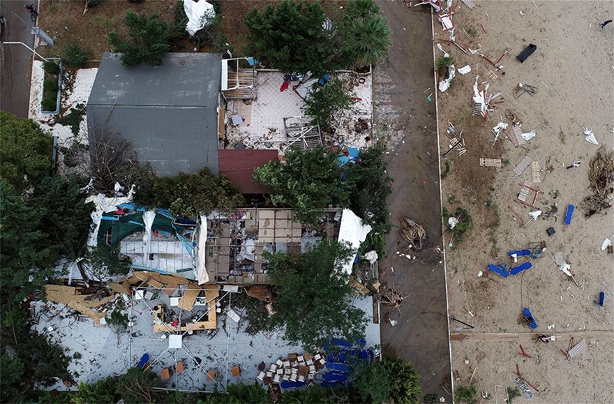 Η καταστροφή στη Χαλκιδική από ψηλά - Φωτογραφία 19