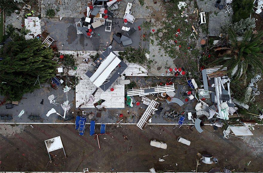 Η καταστροφή στη Χαλκιδική από ψηλά - Φωτογραφία 2
