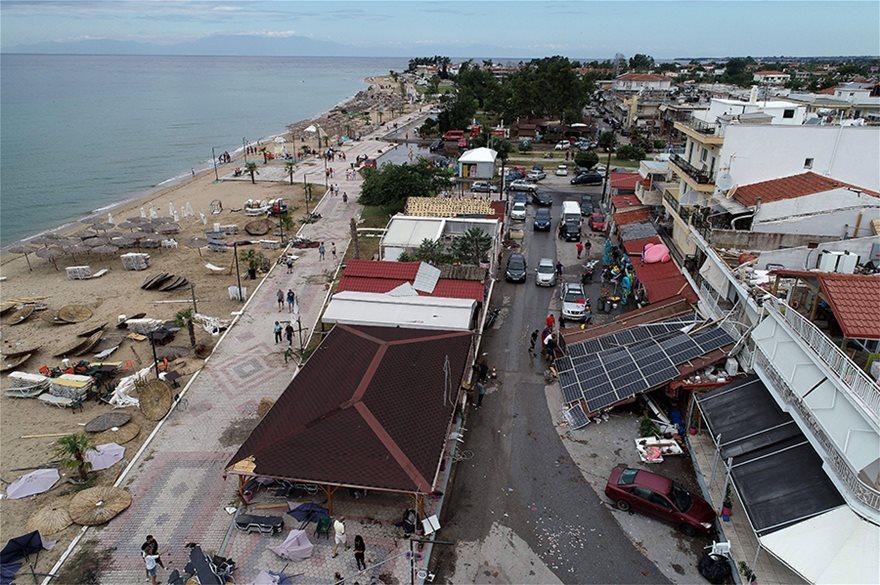 Η καταστροφή στη Χαλκιδική από ψηλά - Φωτογραφία 21