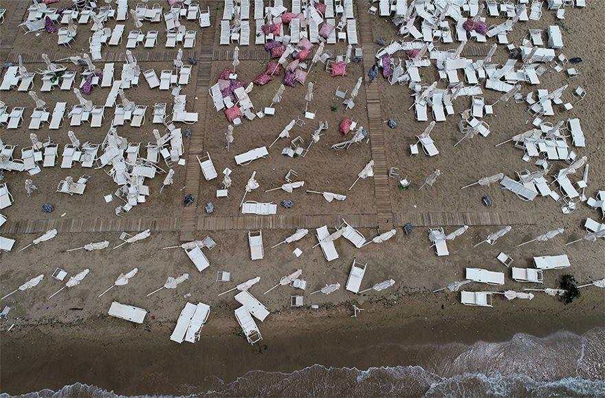 Η καταστροφή στη Χαλκιδική από ψηλά - Φωτογραφία 4