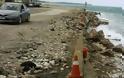 Διάβρωση σε μεγάλη έκταση των ακτών στο Φαληράκι