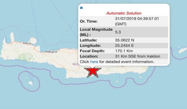 Σεισμός 5,2 Ρίχτερ στην Κρήτη - Αισθητός στο Νότιο Αιγαίο. Τι λένε οι σεισμολόγοι - Φωτογραφία 1