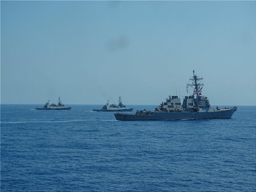 Φωτος: Γυμνάσια ναυτικών δυνάμεων από Ισραήλ, ΗΠΑ, Ελλάδα και Γαλλία - Φωτογραφία 3