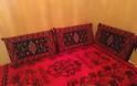 Μετσοβίτικα υφαντά και μαξιλάρια σε σπίτι στην Μηλιά  Μετσόβου 2019