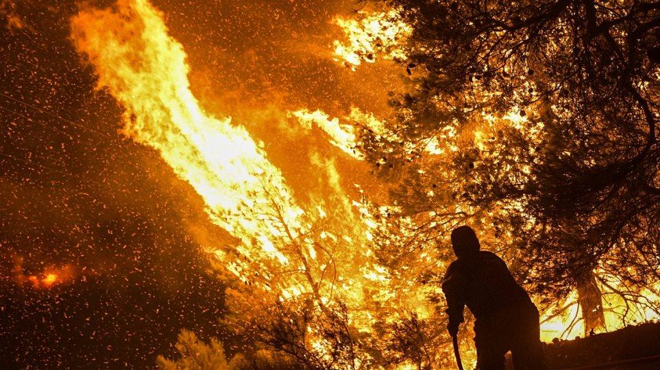 Άγρια νύχτα στην Εύβοια: Σε πύρινο κλοιό τα Ψαχνά και τέσσερα χωριά - Φωτογραφία 1