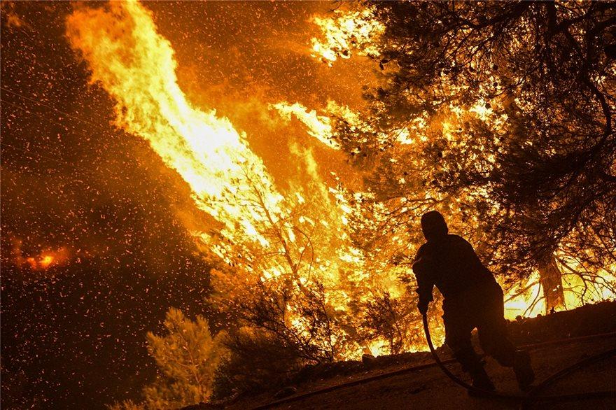 Άγρια νύχτα στην Εύβοια: Σε πύρινο κλοιό τα Ψαχνά και τέσσερα χωριά - Φωτογραφία 3