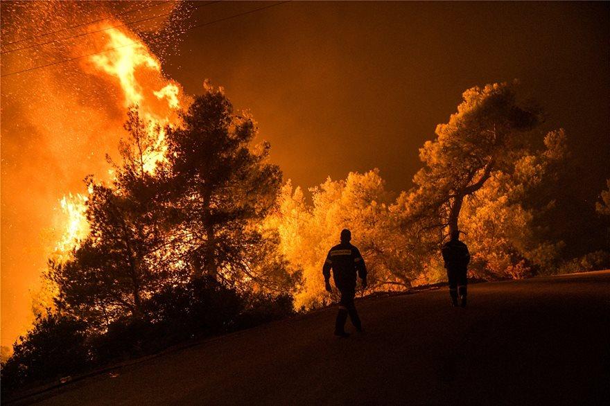 Άγρια νύχτα στην Εύβοια: Σε πύρινο κλοιό τα Ψαχνά και τέσσερα χωριά - Φωτογραφία 4