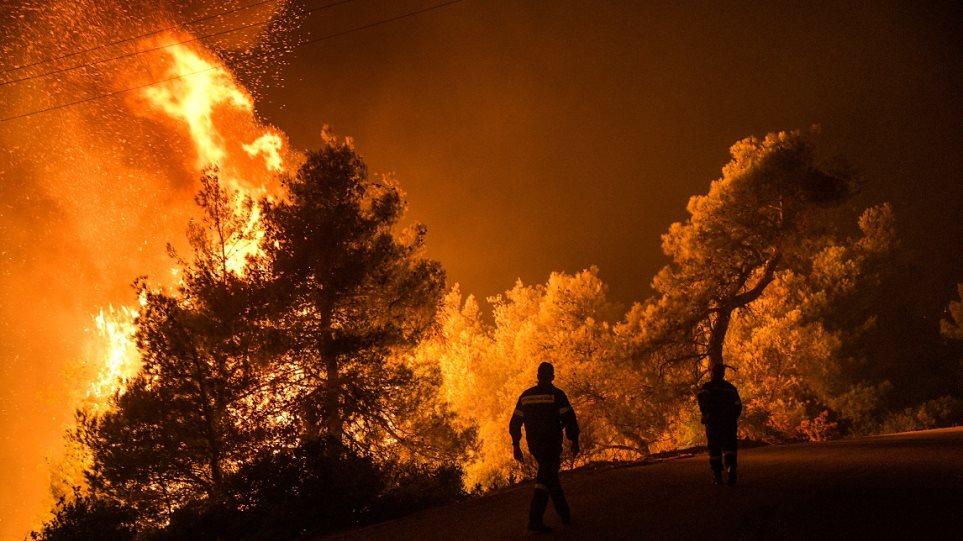 Εκτός ελέγχου η φωτιά στην Εύβοια - Εκκενώθηκαν τέσσερα χωριά - Φωτογραφία 1