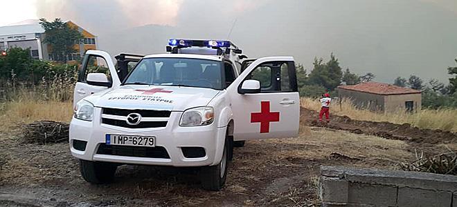 Ο Ελληνικός Ερυθρός Σταυρός στις φωτιές της Εύβοιας - Φωτογραφία 1