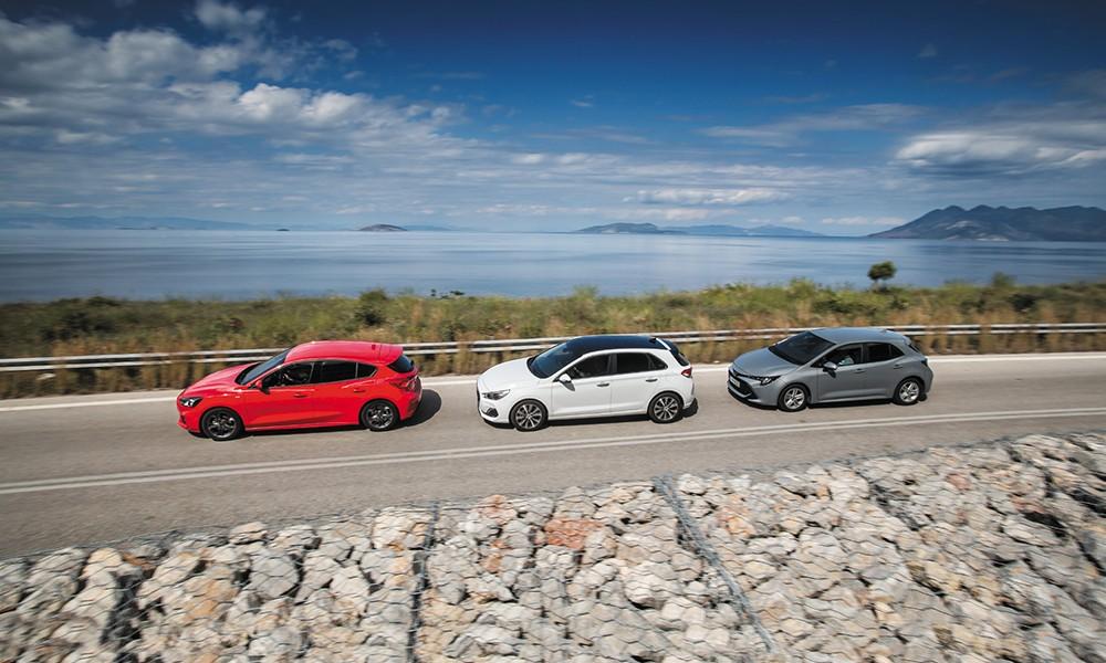 Ford Focus 1.0 EcoBoost VS Hyundai i30 1.0T VS Toyota Corolla 1.2T - Φωτογραφία 2