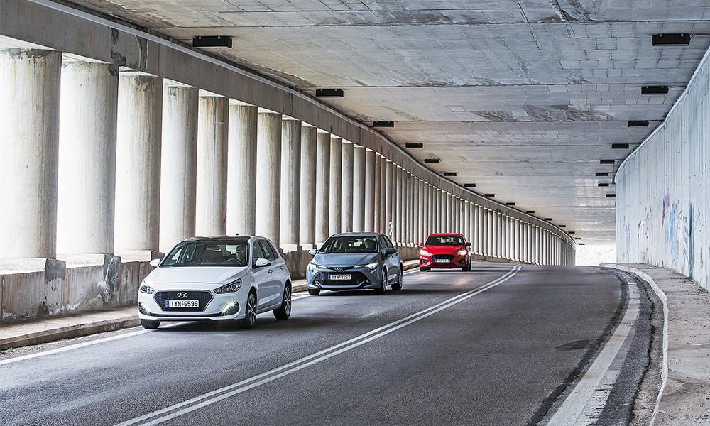 Ford Focus 1.0 EcoBoost VS Hyundai i30 1.0T VS Toyota Corolla 1.2T - Φωτογραφία 9