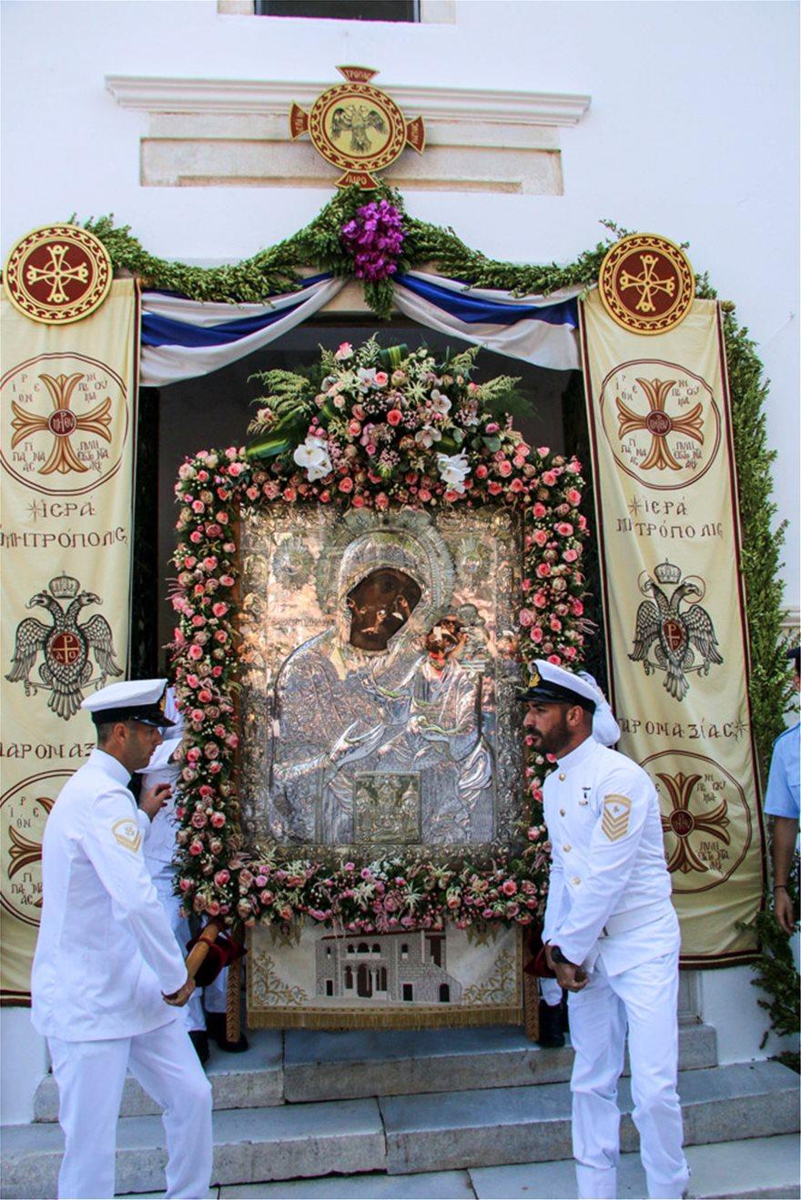Με λαμπρότητα ο εορτασμός της Κοίμησης της Θεοτόκου στην Παναγία την Εκατονταπυλιανή - Φωτογραφία 2