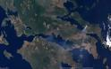 Οι πυρκαγιές από τον δορυφόρο - Φωτογραφία 2