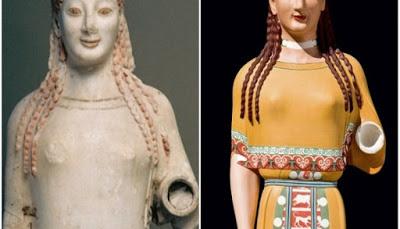 Ροζ, κίτρινα, σιέλ! Έτσι ήταν στην πραγματικότητα τα αρχαία ελληνικά αγάλματα (pics) - Φωτογραφία 1