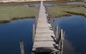 Έβαλαν φωτιά στην ξύλινη πεζογέφυρα στην ΠΕΡΑΤΙΑ - [ΦΩΤΟ] - Φωτογραφία 2