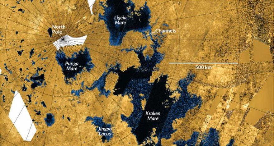 Τιτάνας: Οι λίμνες μεθανίου μπορεί να προήλθαν από γιγαντιαίες εκρήξεις - Φωτογραφία 2