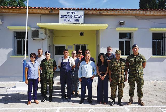 Ο στρατός ανακαίνισε το μειονοτικό σχολείο Ηφαίστου - Φωτογραφία 1