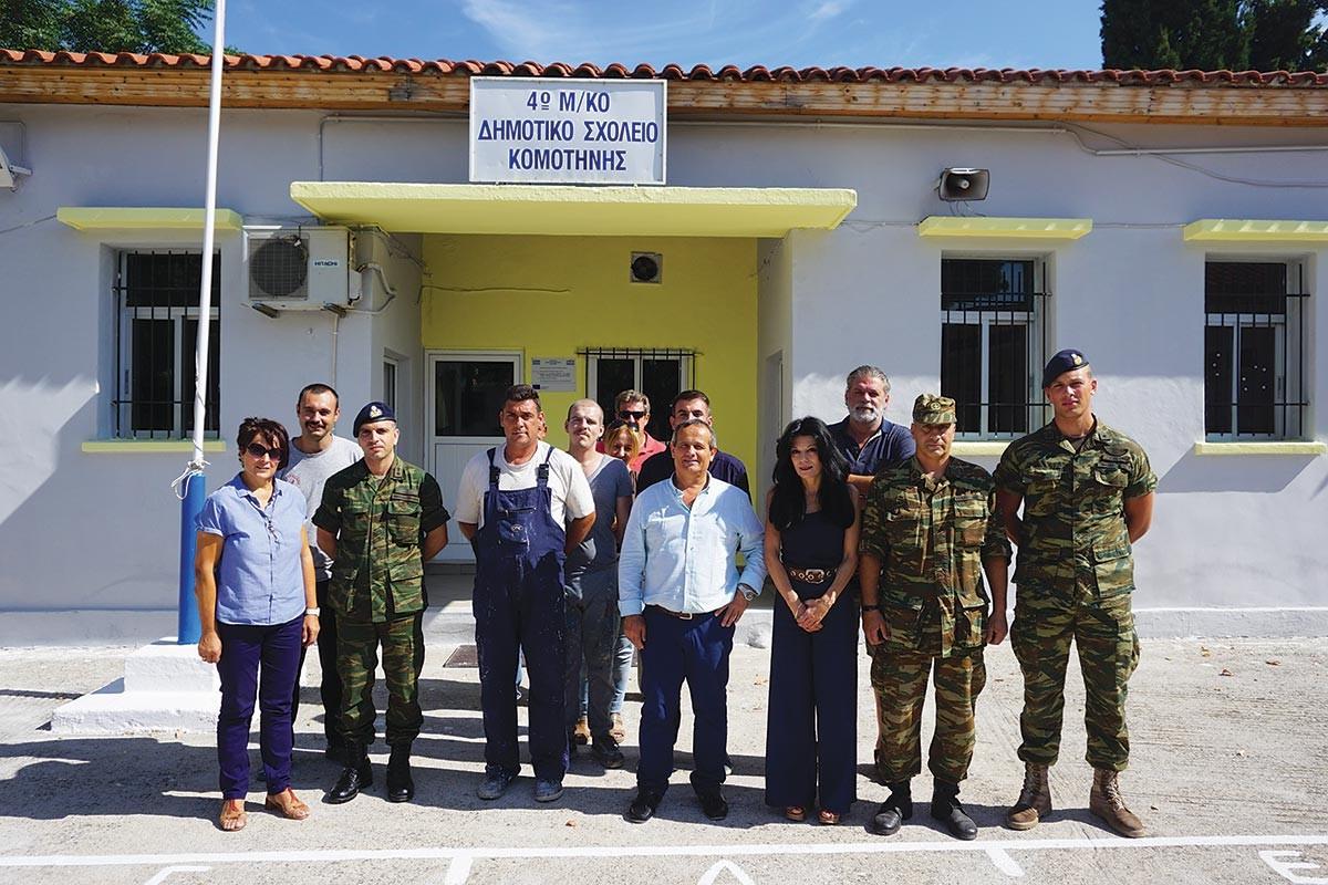 Ο στρατός ανακαίνισε το μειονοτικό σχολείο Ηφαίστου - Φωτογραφία 2