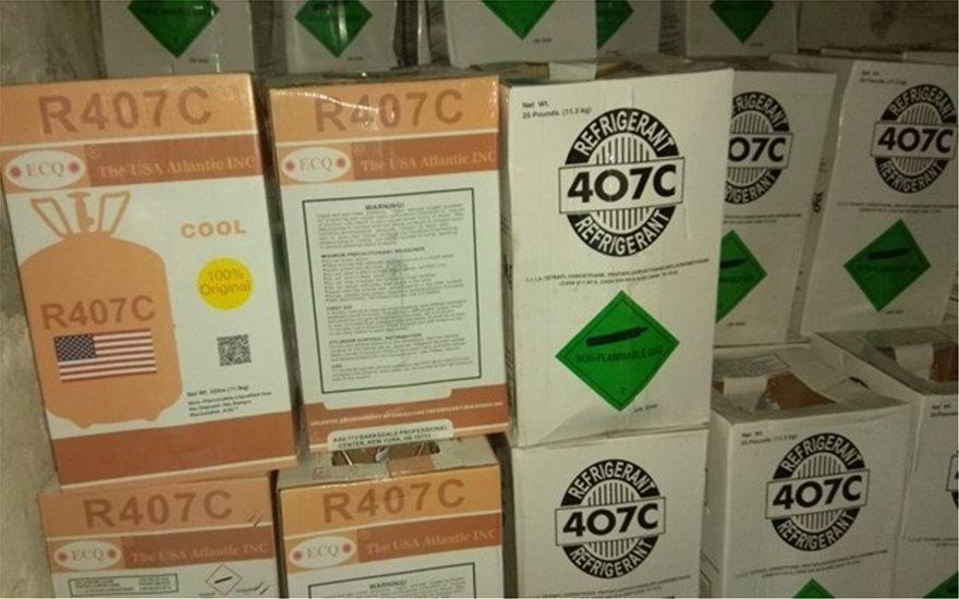 Το ΣΔΟΕ εντόπισε 23 τόνους απαγορευμένου φρέον στο Αιγάλεω! - Φωτογραφία 2