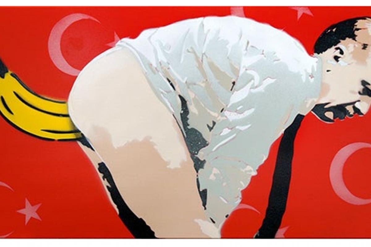 Σάλος από το έργο Γερμανού καλλιτέχνη, με πρωταγωνιστές τον Ερντογάν και... μια μπανάνα - Φωτογραφία 2