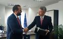 Συνάντηση Νεκτάριου Φαρμάκη με τον Αμερικανό Πρέσβη Τζέφρι Πάιατ