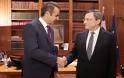 Μεταρρυθμίσεις, επενδύσεις και κόκκινα δάνεια στο επίκεντρο της συνάντησης Μητσοτάκη – Ντράγκι