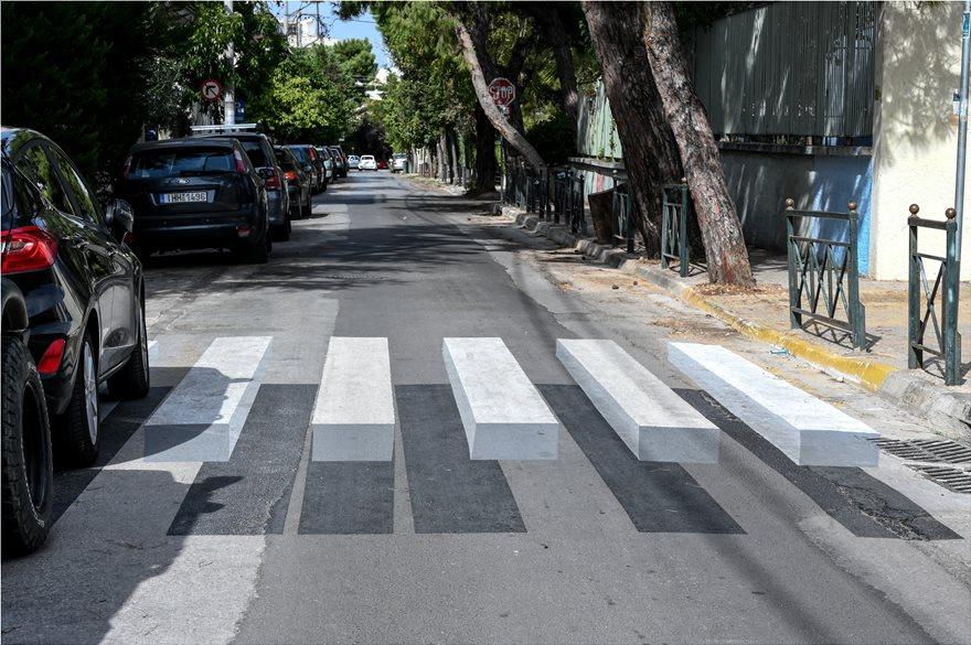 Τρισδιάστατες διάβασεις πεζών στην Αθήνα - Φωτογραφία 4