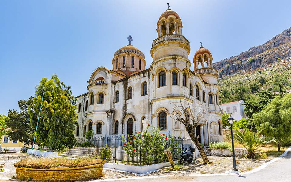 Εργασίες αποπεράτωσης του Αγίου Γεωργίου του Σαντραπέ στο Καστελόριζο μετά από 112 χρόνια - Φωτογραφία 1