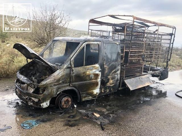 Κάηκε ολοσχερώς φορτηγό με κοτόπουλα στην Αμφιλοχία - [ΦΩΤΟ] - Φωτογραφία 6