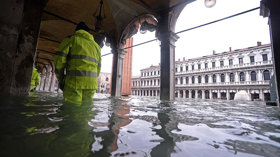 Βενετία: Κλείνει ξανά η ιστορική πλατεία Αγίου Μάρκου - Συνεχίζονται οι ακραίες πλημμύρες - Φωτογραφία 1