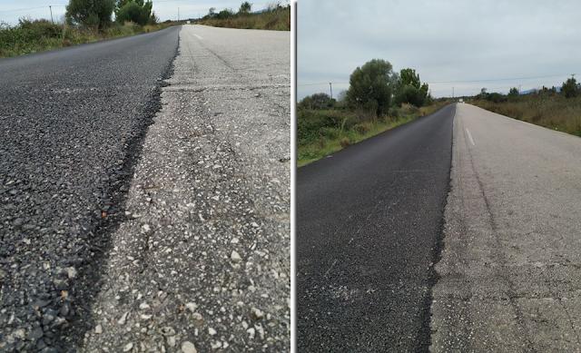 Δρόμος ΑΚΤΙΟΥ-ΑΓΙΟΣ ΝΙΚΟΛΑΟΥ Βόνιτσας: Έστρωσαν με άσφαλτο τον... μισό δρόμο! -Κίνδυνος για μοτοσικλετιστές! - Φωτογραφία 1