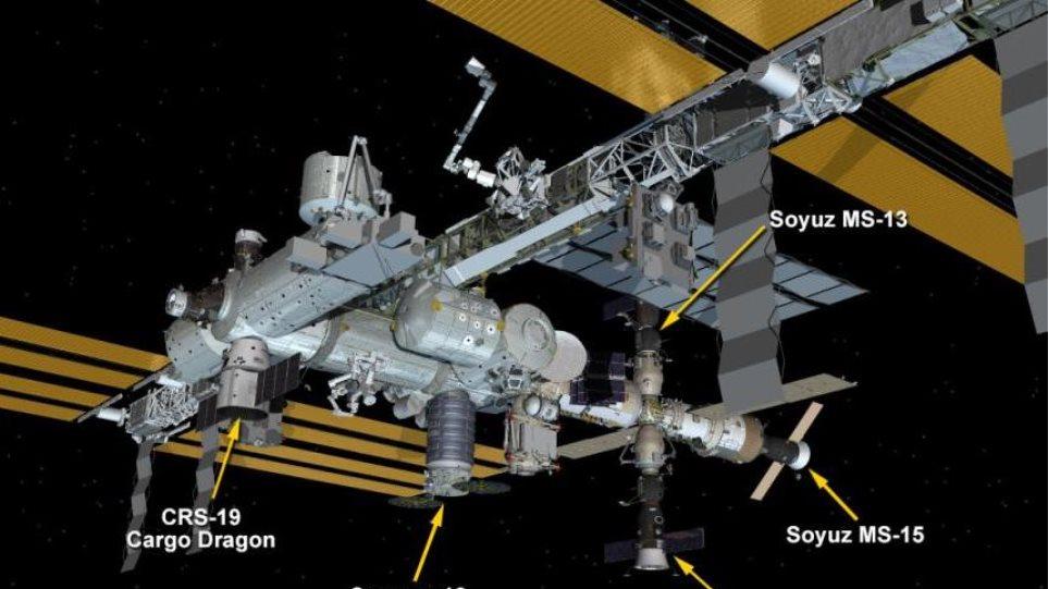 Συνωστισμός στον Διεθνή Διαστημικό Σταθμό: Πέντε σκάφη «παρκαρισμένα» στο εξωτερικό του - Φωτογραφία 1