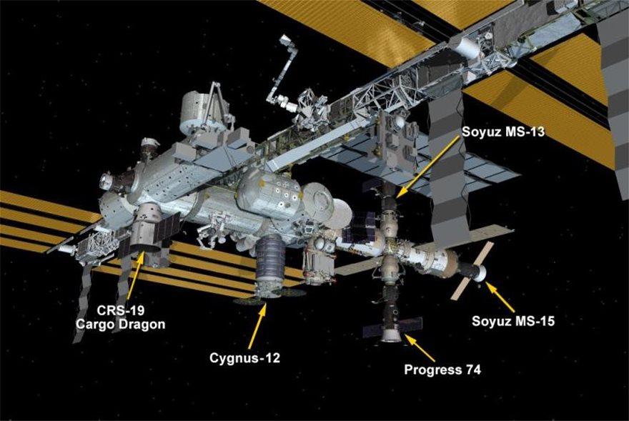 Συνωστισμός στον Διεθνή Διαστημικό Σταθμό: Πέντε σκάφη «παρκαρισμένα» στο εξωτερικό του - Φωτογραφία 2