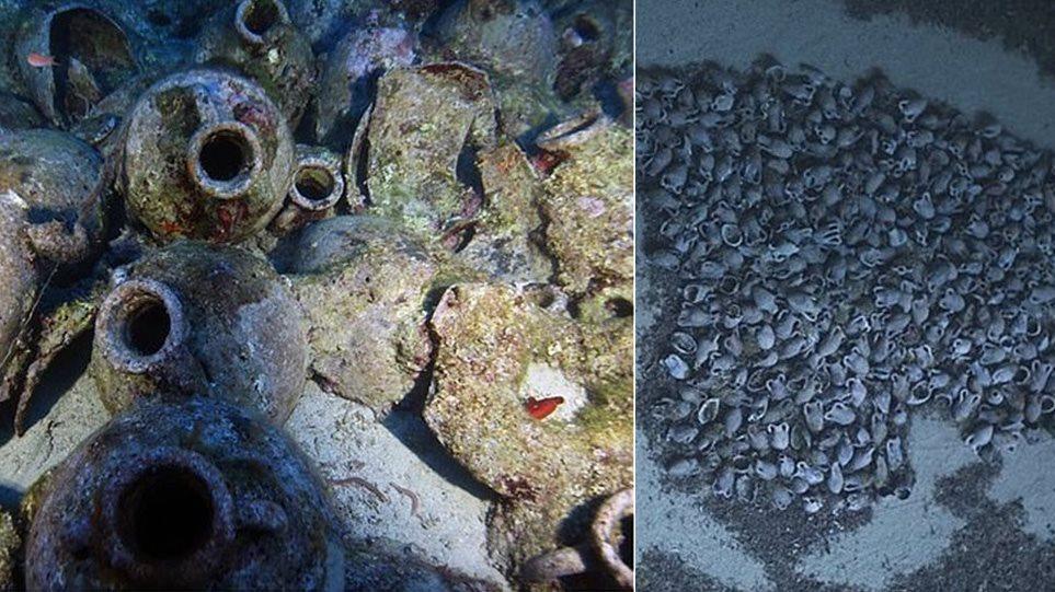 Κεφαλονιά: Εντυπωσιακές φωτογραφίες από ρωμαϊκό ναυάγιο με 6.000 αμφορείς - Φωτογραφία 1