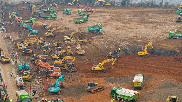 Κίνα: Χτίζουν νοσοκομείο σε 10 μέρες... - Φωτογραφία 1