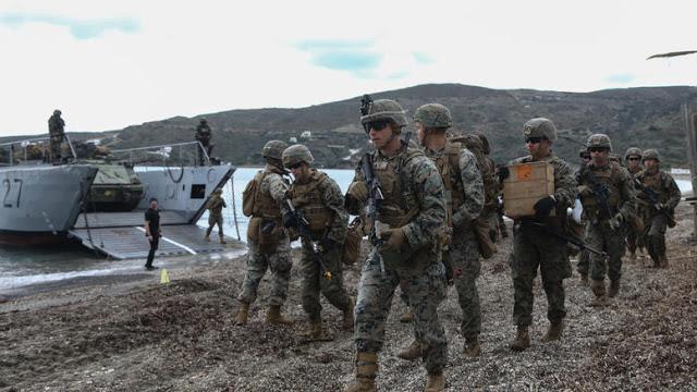 «Απόβαση» στην Σκύρο - Μεγάλη στρατιωτική άσκηση [εικόνες] - Φωτογραφία 1