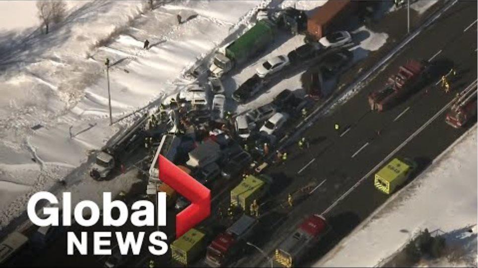 Καραμπόλα-γίγας 200 οχημάτων στο Μόντρεαλ: 70 οι τραυματίες - - Φωτογραφία 2