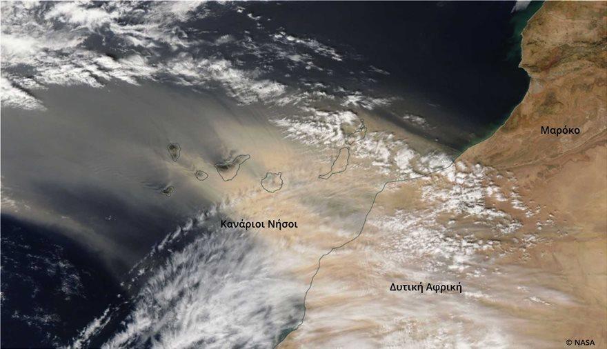 Απόκοσμες εικόνες στα Κανάρια Νησιά: «Κόκκινος» ο ουρανός από την αφρικανική σκόνη - Φωτογραφία 3