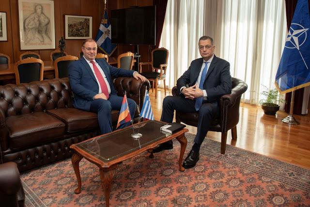 Συνάντηση ΥΦΕΘΑ Αλκιβιάδη Στεφανή με τον Πρέσβη της Αρμενίας κ. Fadey Charchoghlyan - Φωτογραφία 2
