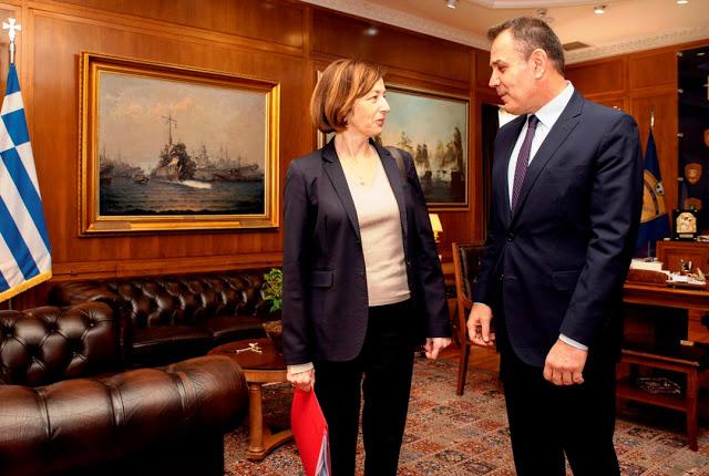 Συνάντηση ΥΕΘΑ κ. Νικόλαου Παναγιωτόπουλου με την Υπουργό Άμυνας της Γαλλικής Δημοκρατίας κ. Φλωράνς Παρλύ - Φωτογραφία 6