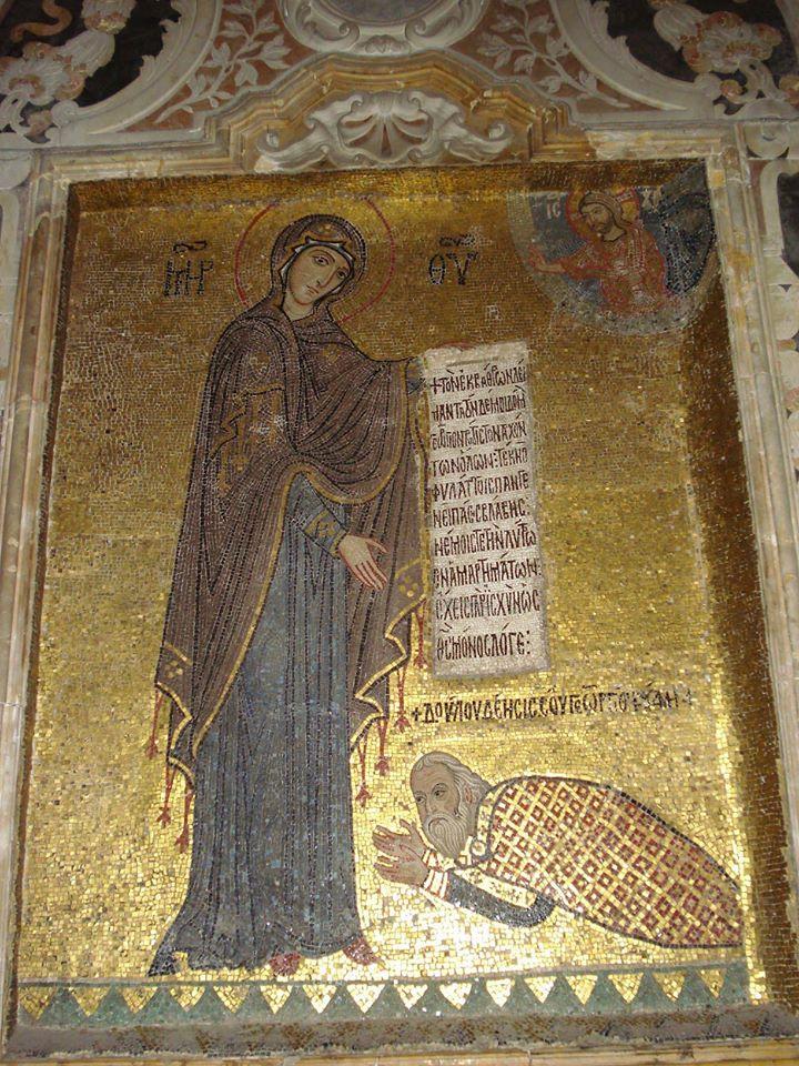 Ο αρχάγγελος Γαβριήλ. Ψηφιδωτό στη Μαρτοράνα, Παλέρμο (12ος αι.) - Φωτογραφία 2