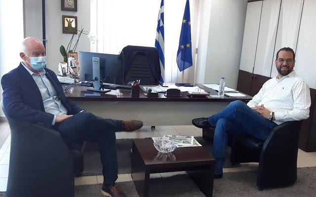 Στον Περιφερειάρχη, Νεκτάριο Φαρμάκη, ο πρώην Πρωθυπουργός Γιώργος Παπανδρέου - Φωτογραφία 2