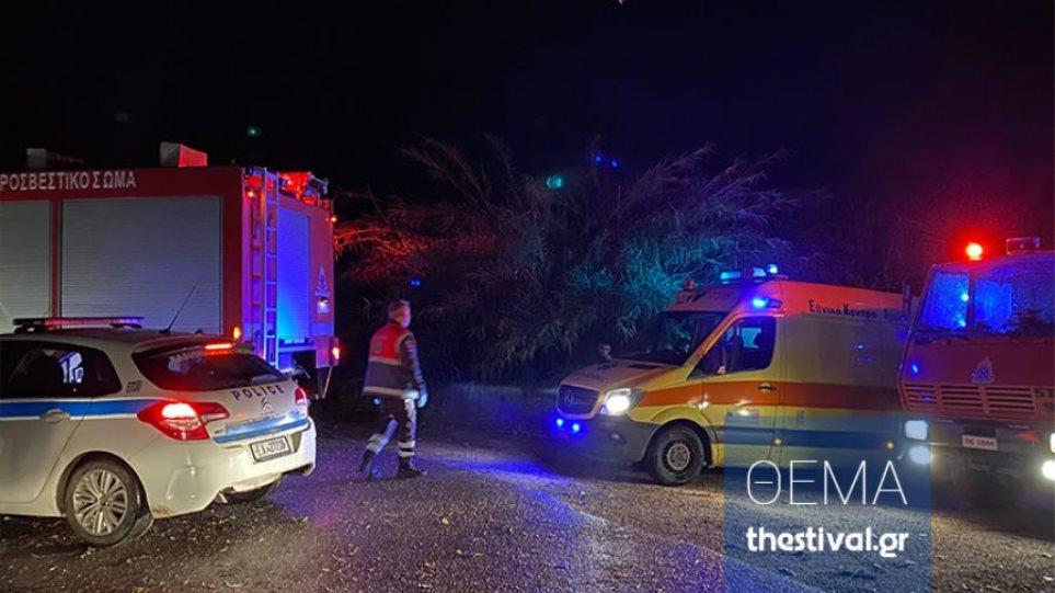 Δραματική διάσωση 21χρονου που παρασύρθηκε από χείμαρρο στο Καβαλάρι Θεσσαλονίκης - Φωτογραφία 1