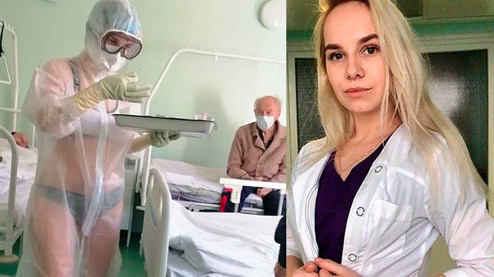 Αυτή είναι η viral Ρωσίδα νοσηλεύτρια - Της πρότειναν να γίνει μοντέλο για εσώρουχα - Φωτογραφία 1