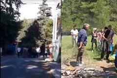 Μαλακάσα - ώρα μηδέν: Οι κάτοικοι εγκαταλείπουν τα σπίτια τους και οι μετανάστες κάνουν μπάρμπεκιου