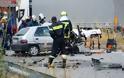 Λάρισα ...Αυτοκίνητο συγκρούστηκε με φορτηγό - Φωτογραφία 3