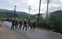 Ένταση και χημικά στη Μαλακάσα σε διαμαρτυρία κατά των δομών