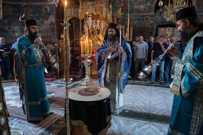 13573 – Ο εορτασμός της Παναγίας της Τριχερούσας στο Χιλιανδάρι (φωτογραφίες) - Φωτογραφία 1
