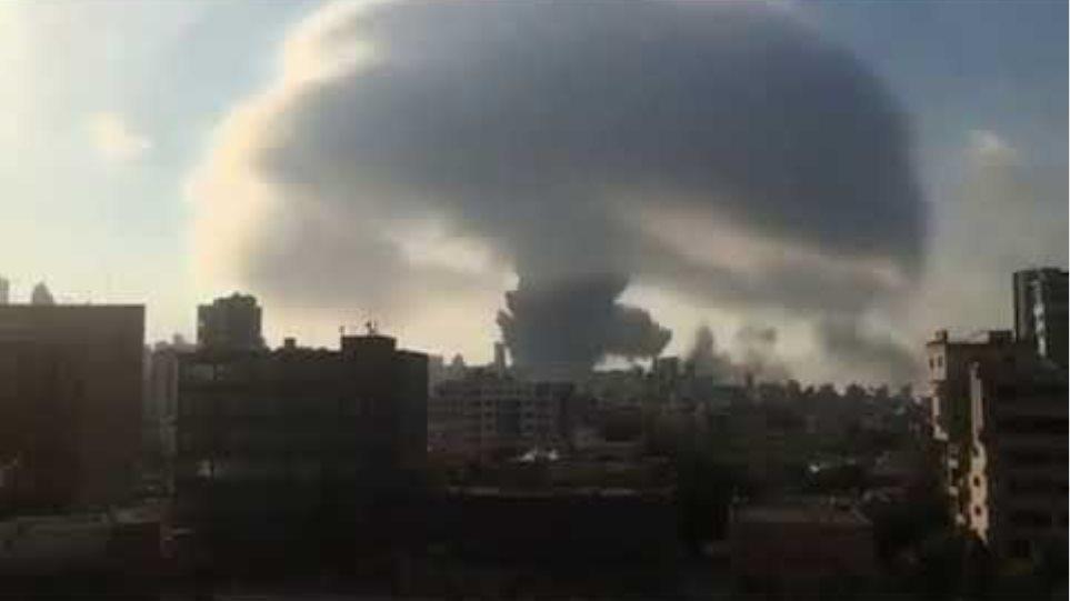 Βηρυτός - Δύο τεράστιες εκρήξεις σε αποθήκες βεγγαλικών - Τουλάχιστον 10 νεκροί-βίντεο - Φωτογραφία 3
