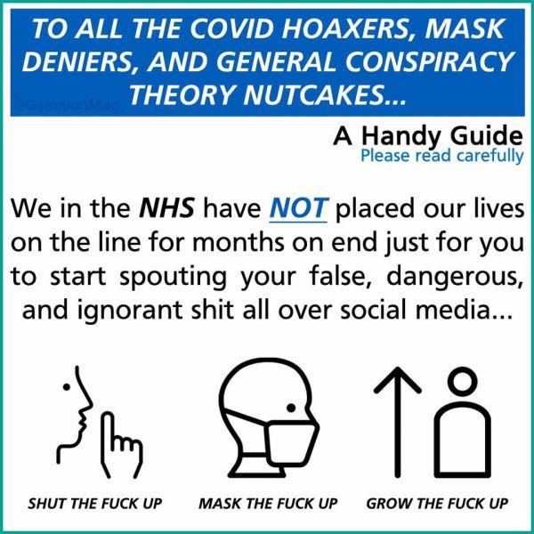 Συγκλονιστικό μήνυμα από τους γιατρούς στη Βρετανία: «Bάλτε τη γα…νη τη μάσκα!» - Φωτογραφία 1